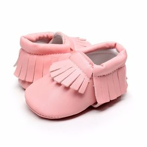 Other - 🐰 Easter 🐣 Girls salmon pink soft baby moccasins